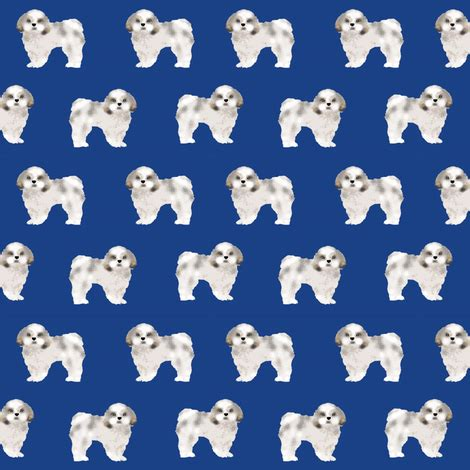 shih tzu fabric shih tzu fabric fabrics shih tsu dogs royal blue fabric petfriendly spoonflower