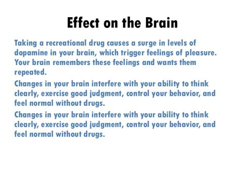 Effects Of Detox On The Brain by Substance Abuse Marijuana Cocaine Heroine