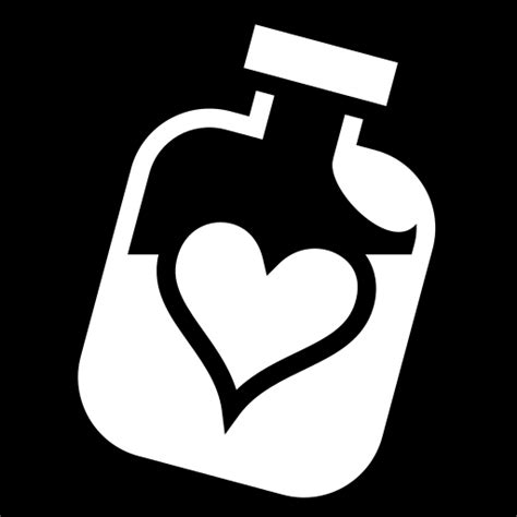 Heart bottle icon | Game-icons.net