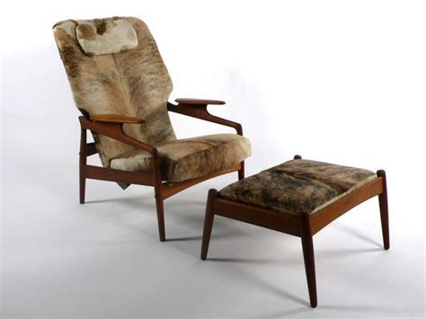 cowhide chairs and ottomans modern lounge chair and ottoman 1950 s cowhide