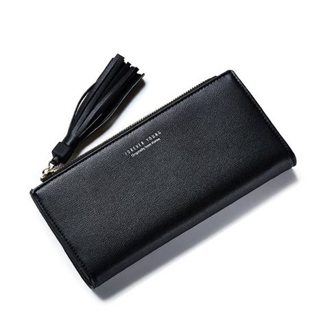dompet wanita clutch zipper coin wallet black