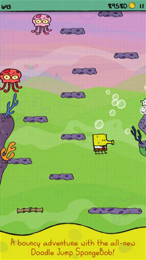 doodle jump underwater doodle jump spongebob squarepants ios now available for