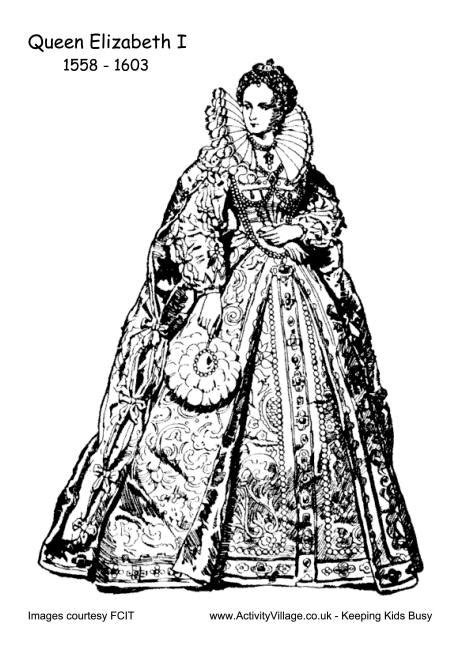 coloring pages queen elizabeth 1 elizabeth i colouring page 2 mystery of history 3