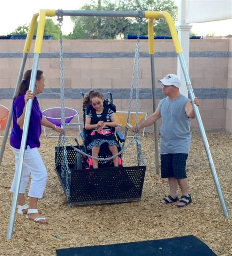 swing stories accessible play area dedicated at coyote trail elementary
