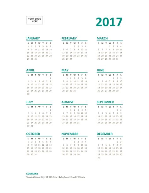 year at a glance calendar template 2017 year at a glance calendar sun sat office templates