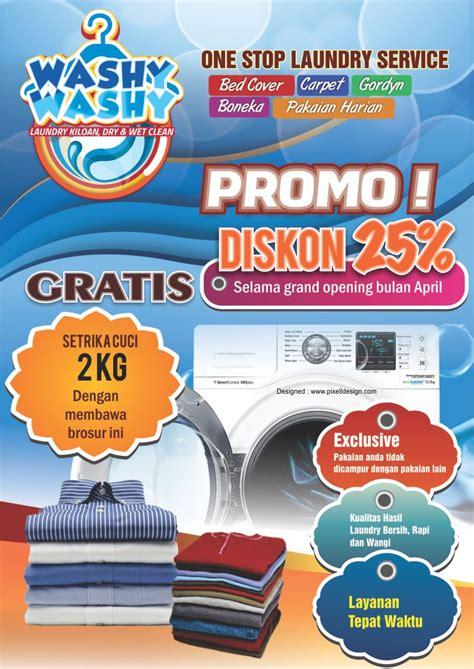 desain brosur laundry contoh brosur flyer laundry menarik untuk promosi