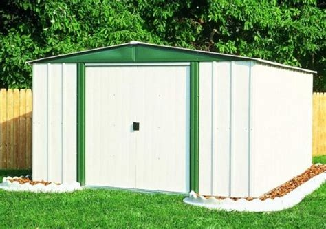 arrow hamlet hm steel storage shed    ft review