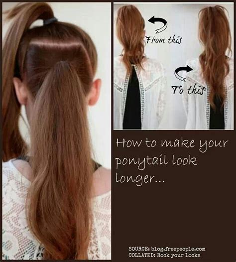 how to if you look with hair how to make your pony tail look longer cute hair ideas