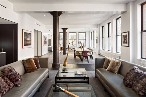 sophisticated masculine loft apartment  soho  york city