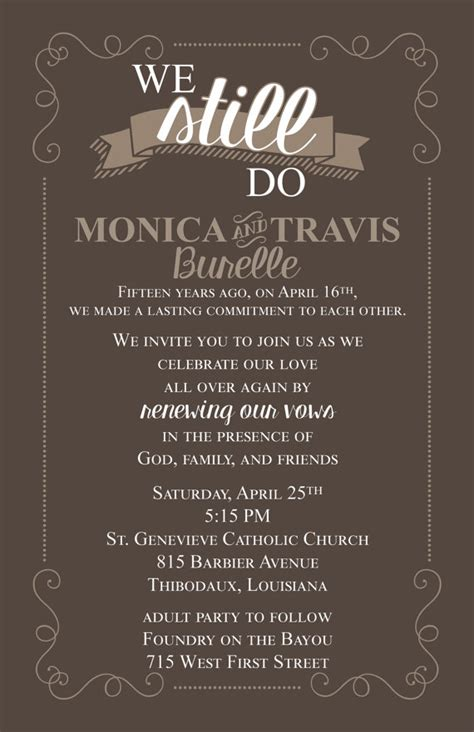 Wedding Vow Exles by Renew Vows Invitation Wording Exles Style By