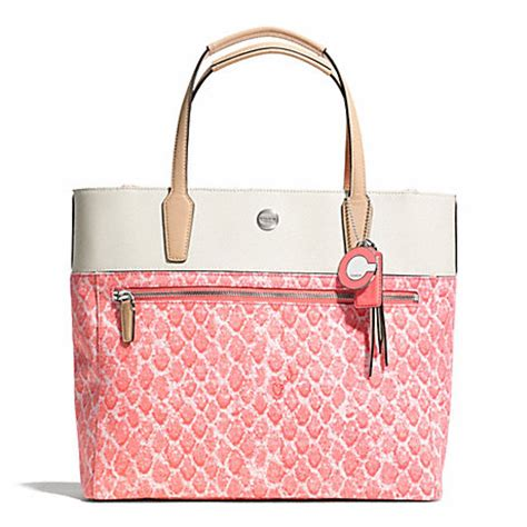 Coach Ergo Printed Python Large Tote by Resort Snake Print Small Tote F27783 Coach