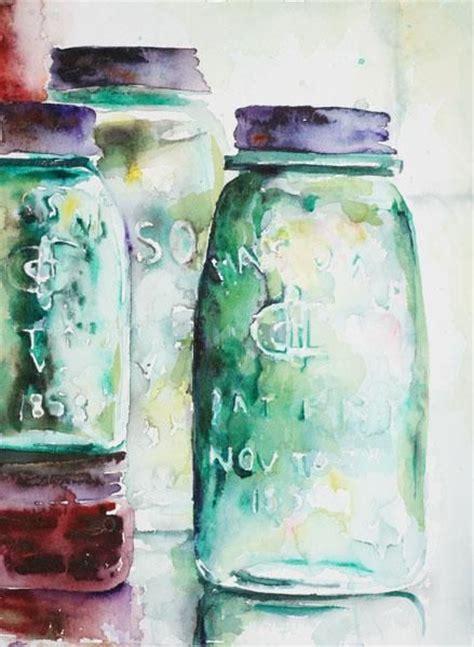 how to color jars jar watercolor watercolor jars