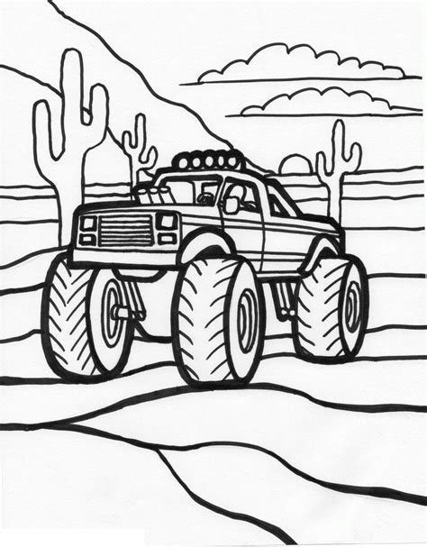 Coloring Page To Print coloring pages trucks coloring pages to print