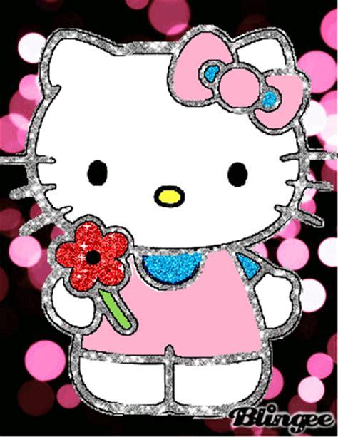 imagenes de uñas de hello kitty hello kitty y una flor picture 110941618 blingee com