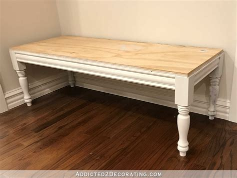 upholster a bench diy upholstered dining room bench how to build the frame