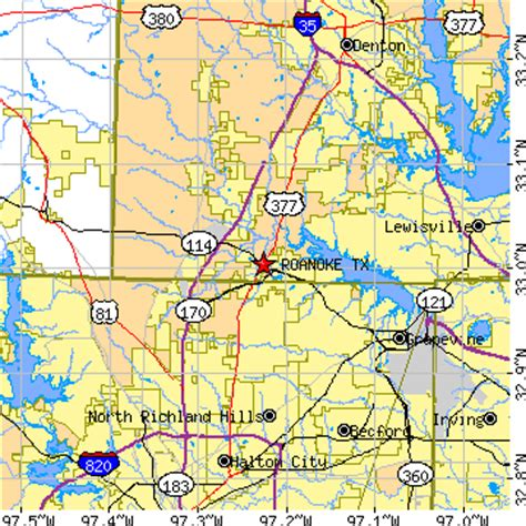 roanoke texas map 75253 zip code map pictures to pin on pinsdaddy