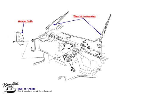 1995 corvette wiper system parts parts accessories for
