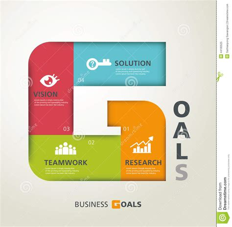 goals concept stock vector image 44183525