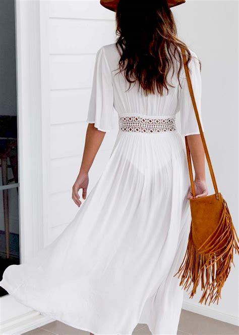 Dress Maxi Wanita Kaftan Brokat Lace Import Xl Salem Pink uk cover up kaftan dress summer boho maxi dress swimwear ebay