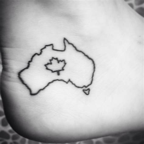 one of a kind tattoos half australian half canadian small on my ankle