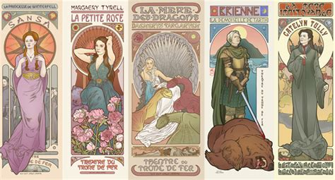 Japanese Home Design Tv Show game of thrones characters depicted in art nouveau style