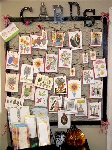 creative ways to display business cards clever greeting card design display shopfairtrade
