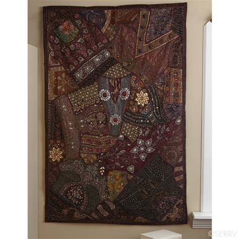 Sari Sparkle Mocha Tapestry Sparkle Wall Decor