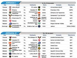 Calendario De Partidos Liga Mx Listo El Calendario Clausura 2016 Ascenso Mx