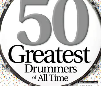 whos the greatest drummer of all time the final round march 2014 issue of modern drummer featuring the 50