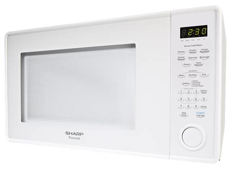 Microwave Sharp R 249 In W r 559yw white 1 8 cu ft countertop microwave sharp
