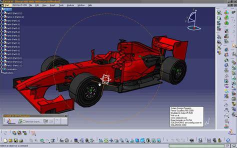 design formula ferrari scuderia f60 formula 1 racing car modeled in catia