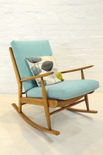 mid century rocking chair ebay mid century modern scandart teak rocking chair retro