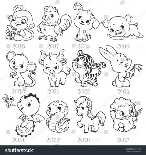 new year animals relationship set of zodiac signs in style zodiac
