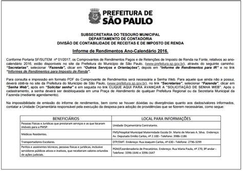 santander informe de rendimentos 2016 informe de rendimentos 2016 dispon 237 veis no site da prefeitura