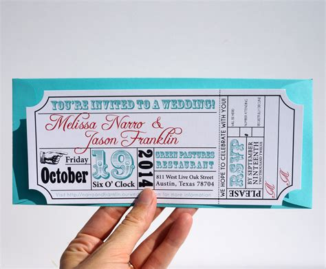 ticket stub invitation template ticket wedding invitation