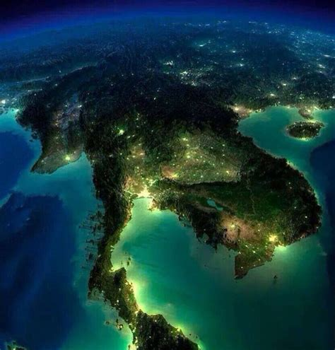 map  thailand      space  night