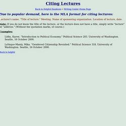 apa format lecture notes mla cite lecture notes