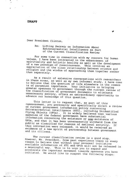 Letter Drafting rockefeller initiative documents