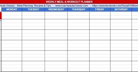 blank meal planner app meal planner blank template printable