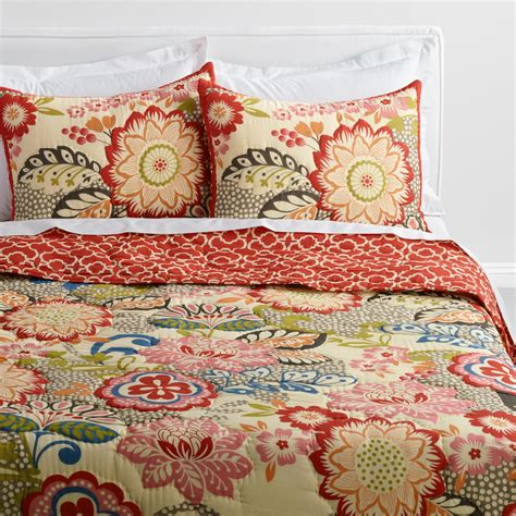 world market bedding floral and geometric darby reversible quilt world market