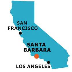 santa barbara california map