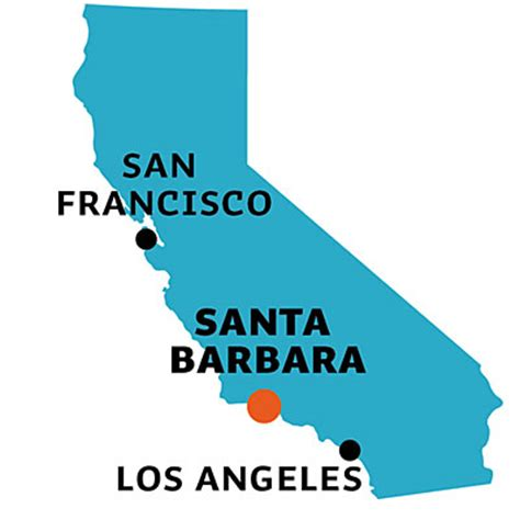 california map near santa barbara santa barbara ca location what to do in santa barbara
