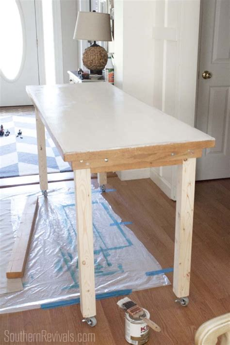 Add Height To Table Legs by Preschool Table Makeover From Toddler Height To Bar Height Southern Revivals