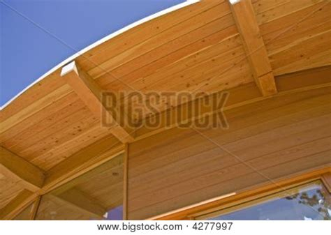 Curved Roof Construction Timber Frame House Curved Roof Construction Stock Photo