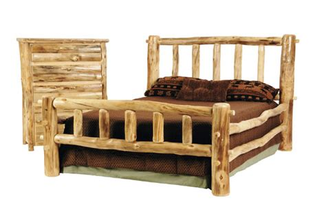 log beds rustic discount budget bedroom log furniture aspen western bed