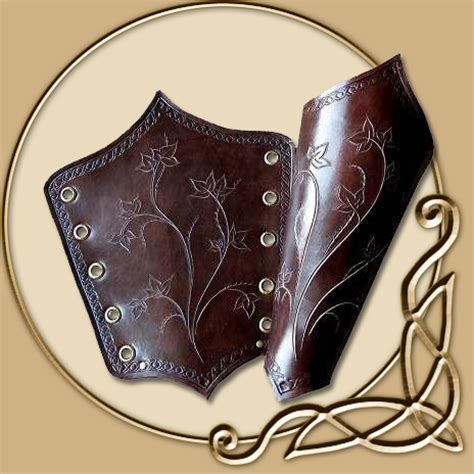 leather armour elven maid bracers thevikingstorecouk