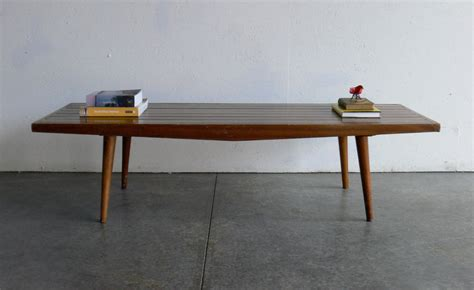 bench coffee table vintage mid century modern coffee table bench