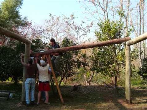 cobertizo rollizos crnbe construcci 243 n quincho escuela 22 youtube
