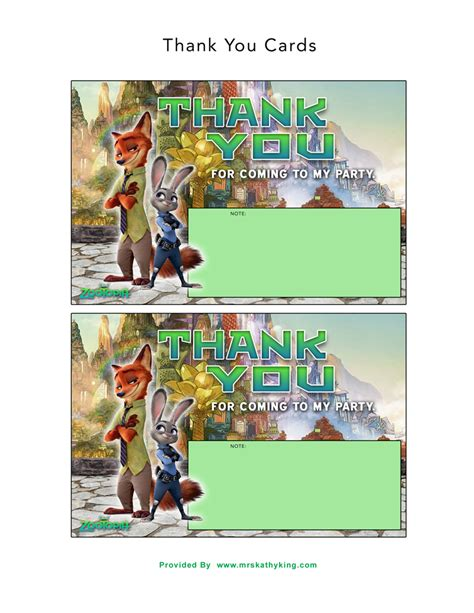 printable zootopia invitations free printable zootopia birthday party decorations