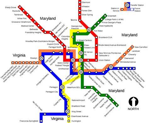 metrorail map metrorail washington metro map united states